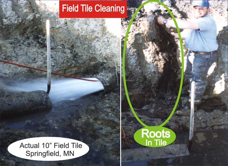 Agricultural Field Tile Cleaning