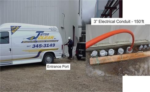 Frozen Electrical Conduit